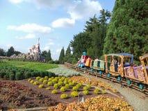 Disneyland Paris. Territory of child's entertaining complex of attractions Stock Photo