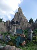 Disneyland Paris. Territory of child's entertaining complex of attractions Stock Image