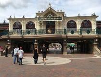 Disneyland Park main entrance Royalty Free Stock Photo