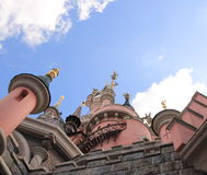 Disneyland Park near Paris. The castle in the Disneyland Park near Paris, France Stock Photo