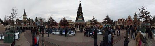 Disneyland Paryż panorama Zdjęcia Royalty Free