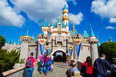 Disneyland Pink Castle Royalty Free Stock Images