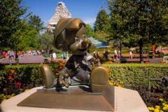 Disneyland Pinocchio Bronze Statue Stock Photo