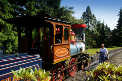 Disneyland railroad locomotive Royalty Free Stock Photo
