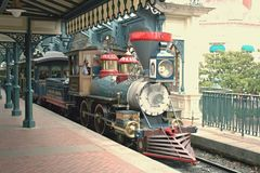 Disneyland Railroad Paris. This article is about the railroad in Disneyland Park Paris. For the railroad in the original Disneyland, see Disneyland Railroad royalty free stock photos