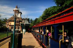 Disneyland railroad  sightseeing car Royalty Free Stock Photos