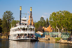 Disneyland rejsu Rzeczna łódź Fotografia Royalty Free