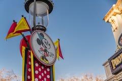 Disneyland Resort -Freizeitpark in Anaheim, Kalifornien stockfotos