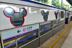 Disneyland Resort -Lijn, Hong Kong Stock Afbeeldingen