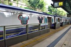 Disneyland Resort linje, Hong Kong arkivbild