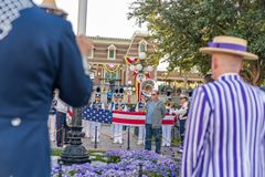 Disneyland Resort nöjesfält i Anaheim, Kalifornien royaltyfria bilder