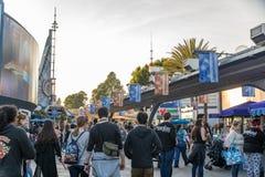 Disneyland Resort nöjesfält i Anaheim, Kalifornien arkivbild