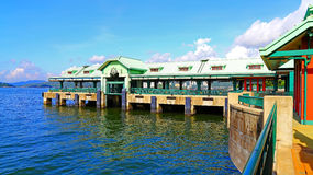 Disneyland resort pier, hong kong Royalty Free Stock Photo