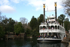 disneyland riverboat Arkivbilder