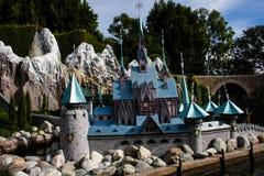 Disneyland's Casey Jr. Circus Train Frozen castle Royalty Free Stock Photo