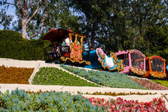 Disneyland's Casey Jr. Circus Train. Casey Jr. ride in Fantasyland in Disneyland, California, is chugging along on its track. Built in 1955, this train rides Stock Image