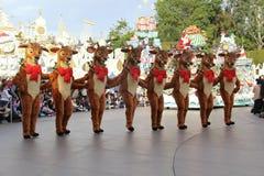 Disneyland's Christmas Parade. Dancing raindeers Stock Photo