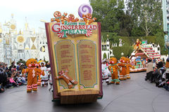 Disneyland's Christmas Parade Royalty Free Stock Photography