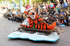Disneyland's Christmas Parade Royalty Free Stock Image