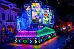 Disneyland`s Paint the Night Parade. ANAHEIM, CALIFORNIA - September 21st, 2015 - Disneyland`s Paint the Night Parade Stock Image
