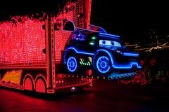 Disneyland`s Paint the Night Parade. ANAHEIM, CALIFORNIA - September 21st, 2015 - Disneyland`s Paint the Night Parade Royalty Free Stock Photos
