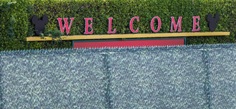 Disneyland`s welcome sign Royalty Free Stock Photos