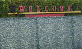 Disneyland`s welcome sign Stock Image