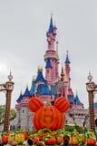 Disneyland Scène in Parijs, Frankrijk stock afbeelding