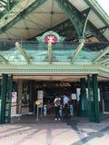 Disneyland semesterortstation av den Hong Kong tunnelbanan fotografering för bildbyråer