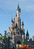 Disneyland. Sleeping Beauty Castle on the sky background Royalty Free Stock Photos
