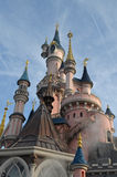 Disneyland. Sleeping Beauty Castle on the sky background Royalty Free Stock Image