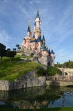 Disneyland. Sleeping Beauty Castle on the sky background Royalty Free Stock Images