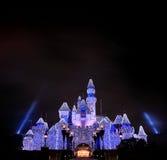 Disneyland slott royaltyfri fotografi