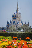 Disneyland slott royaltyfria foton