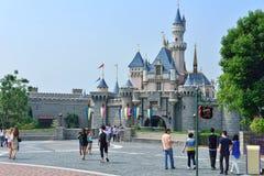 Disneyland slott, Hong Kong fotografering för bildbyråer