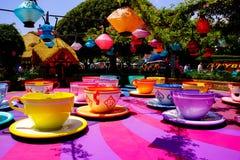 Disneyland Spinnende Theekoppen royalty-vrije stock afbeelding