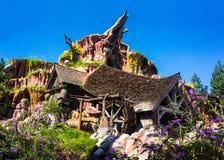 Disneyland Splash Mountain Critter Country Br`er Rabbit. One of the Magic Kingdoms major attractions is Splash Mountain. Based on the 1946 Walt Disney film, Song royalty free stock photos