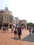 Disneyland Street. Crowded street of Disneyland, HongKong Stock Images
