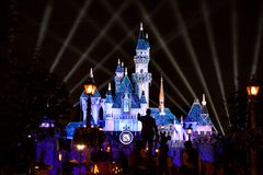 Disneyland 60th årsdagslott Arkivfoto