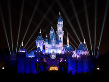 Disneyland 60th Castle  Royalty Free Stock Photo