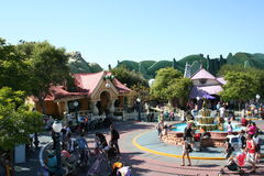 Disneyland Toon's Town. Disneyland's Toon Town Mickey Mouse and Minnie Mouses' Houses Stock Photo