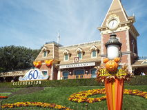 Disneyland trainstation Halloween e diamante 60 Fotografia Stock Libera da Diritti