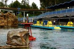 Disneyland ubåtaffärsföretag arkivbilder