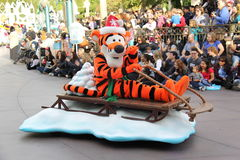 Disneylands圣诞节游行 库存照片