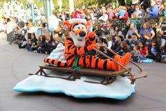 Disneylands jul ståtar Arkivfoto