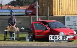 Disoccupazione nell'post-apartheid Sudafrica Fotografia Stock