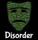Disorder Word Represents Wordcloud Words And Malady Stock Photos