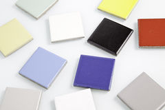 Disordered colored squares Royalty Free Stock Images