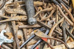 Disorder Rusty Steel Pipes Stock Image Image Of Outdoor