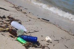 Disordine della spiaggia immagine stock